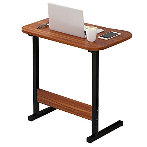 (Virod-Home Office Desks Side Table,Simple Computer Desk Space Saving Household Economic Type Bedroom Bedside Table Lazy Tray Modern Style (Color : Ebony Color))