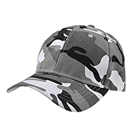 Afinder Mens Teen Boys Camouflage Baseball Cap Sun Protection Large Visor Cotton Sun Hats Headwear Breathable Outdoor Sports Cycling Camping Fishing Hunting Travel Beach Tennis Golf Baseball Hat Cap