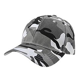 Afinder Mens Teen Boys Camouflage Baseball Cap Sun Protection Large Visor Cotton Sun Hats Headwear Breathable Outdoor…