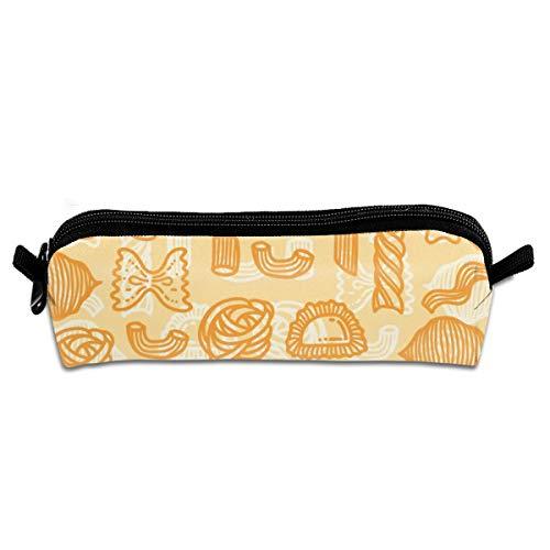 Kui Ju Pencil Bag Pen Case Orange Food Pattern Cosmetic Pouch Students Stationery Bag Zipper Organizer]()