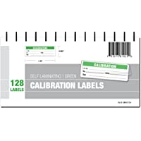 Calibration Labels - Self Laminating with Spiral Bound Cover (Green)