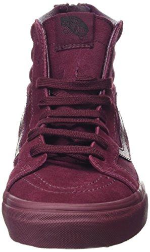 Vans Sk8-Hi Reissue Zip, Sneakers Hautes Mixte Adulte Rouge (Mono port royale)