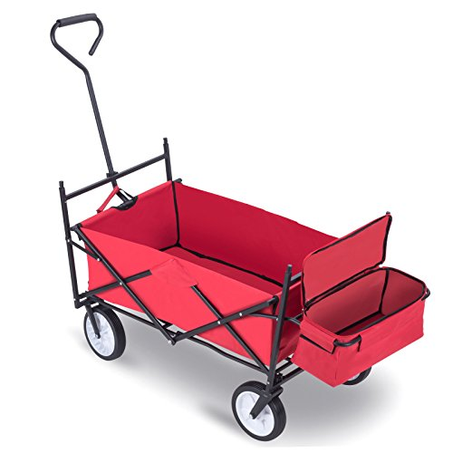 Trendy Utility Folding Collapsible Wagon Designed For Gardening Shopping And General Hauling Small Items Groceries Gardening Items Camping Items - Shopping Items Australia