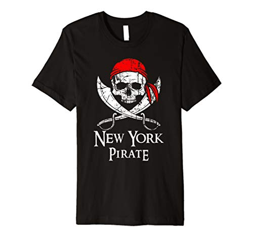 New York Pirate Jolly Roger State Pride T-Shirt ()
