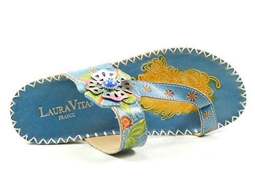 Laura Femme Mode SD303 Mules 80 Brive Sapa Vita Blau qCRqna