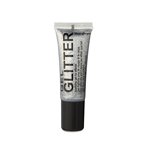Stargazer Face Body And Eye Glitter Gel Silver 10ml - STGSGS152B-SILVER