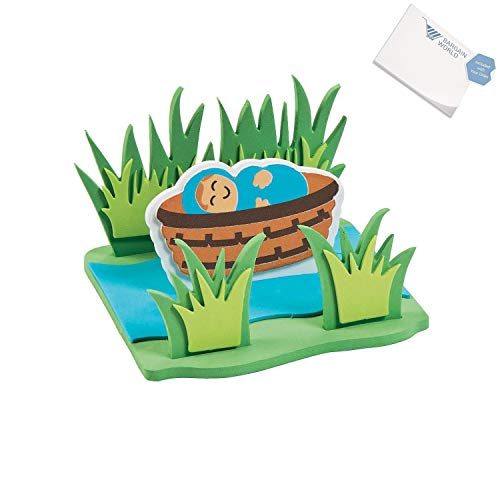 Bargain World 3D Floating Baby Moses Craft Kit (With Sticky -