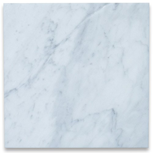 Carrara White Italian Carrera Marble 12x12 Tile Polished - 200 sq.ft. -