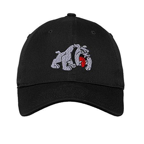 Bulldog Style 3 Twill Cotton 6 Panel Low Profile Hat - Bulldog Hat