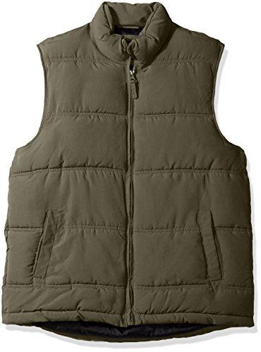 Smith's Workwear Men's Puffer Vest, Dark Olive, 2X-Large