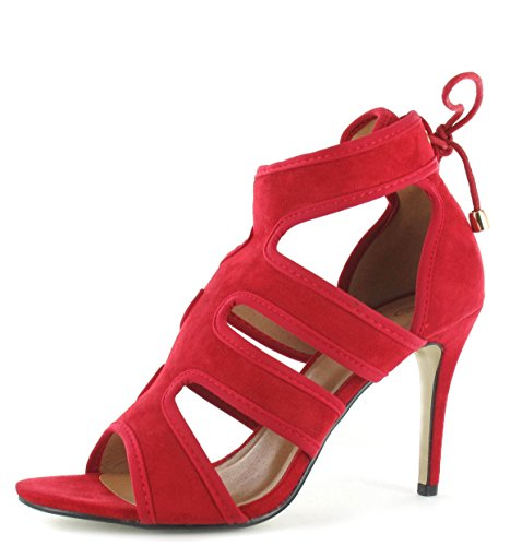 Damen Damen High Heels Stiletto Spitze Up Party Ankle Sandalen Peep Toe Größen 3