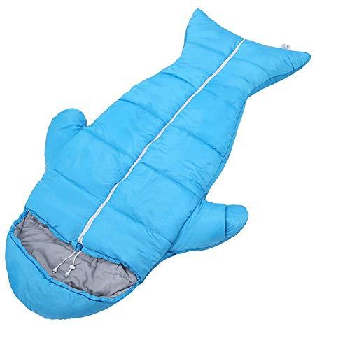 - YTBLF Children's Outdoor Sleeping Bag, Thick Warm Indoor Anti-Kick, Student Lunch Break Cotton Sleeping Bag Penguin Sleeping Bag,Blue,1.1KG