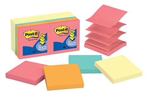 Post-it Pop-up Notes, 3 in x 3 in, Canary Yellow and Cape To