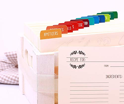 Recipe Dividers. Recipe Cards. Recipe Index Cards. Custom Recipe Dividers with Monograms ()