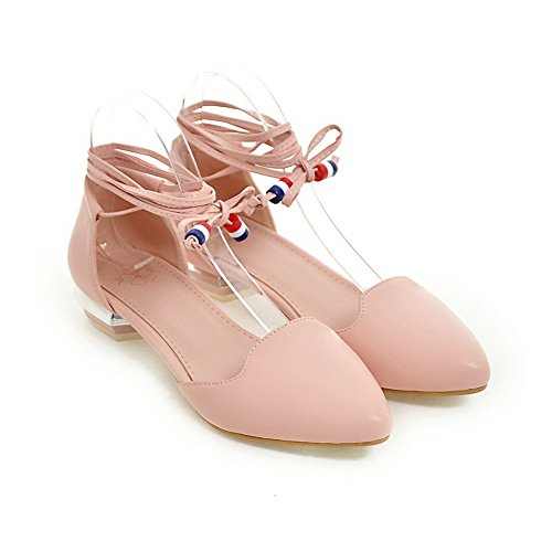 Baguette Mini Pink Size Style Womens ASL05100 Non Marking Urethansandalen BalaMasa wtPXq4UT64