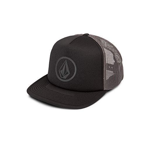 (Volcom Men's Full Frontal Cheese 5 Panel Trucker Hat, Asphalt Black, One Size Fits All)