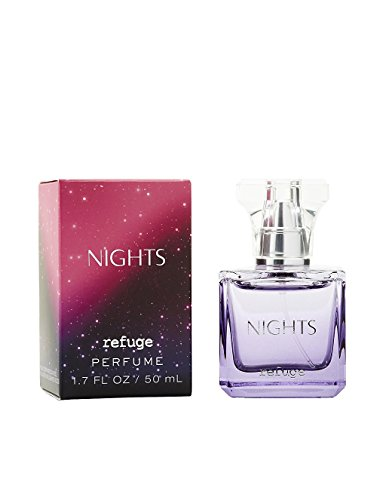 Charlotte Russe Refuge Nights Perfume Original Version Black With Pink Glitter Packaging 1.7 Ounce Retired Fragrance from Charlotte Russe