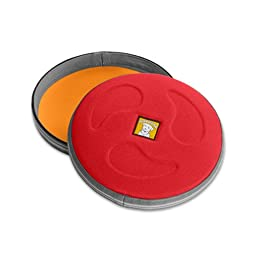 Ruffwear - Hover Craft Long Distance Flying Disc for Dogs, Red Currant, Large