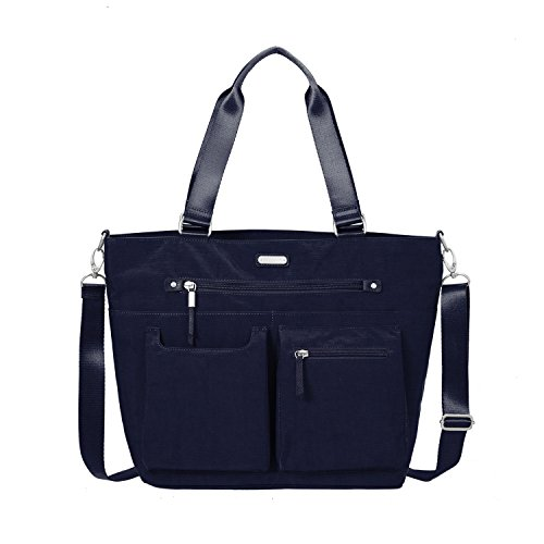 baggallini Any Day Tote with RFID Phone Wristlet (Navy)