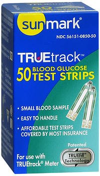 Sunmark Sunmark Truetrack Blood Glucose Test Strips, 50 each