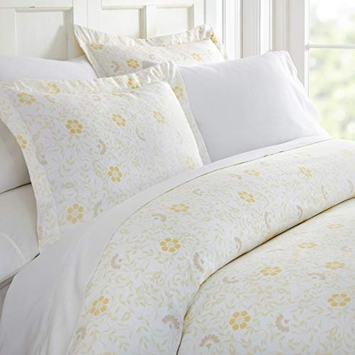 - Merit Linens Premium Ultra Soft 3 Piece Spring Vines Print Duvet Cover Set Queen/Full 3 Piece