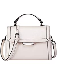 89db13016d80 BOYATU Real Leather Handbag for Women Top Handle Bag Ladies Shoulder Purse  Bag
