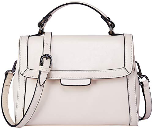 Femmes main en Blanc Sacs Handle Vintage à Sac bandoulière dames pour à Top BOYATU cuir qP1wUEPC