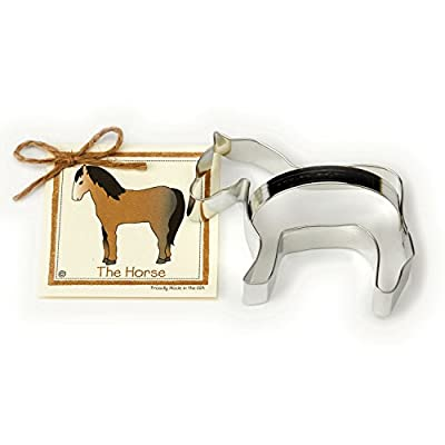 Horse Cookie and Fondant Cutter - Ann Clark - 5.1 Inches - US Tin Plated Steel