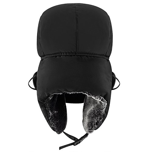 mysuntown New Winter Trapper Hat Ushanka Russian Style Hat With Ear Flap Chin Strap and Windproof Mask