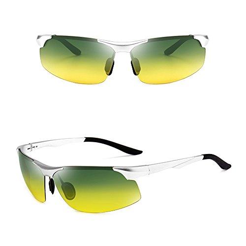 Deportes de visión y uso Polarizer sol de Gafas gafas haz doble conducción hombres SSSX día pesca de nocturna noche de de anti alta Plata Gafas La al ULTRAVIOLETA a los Luz de anti Gafas de sol de Gafas de sol 1qwUafP