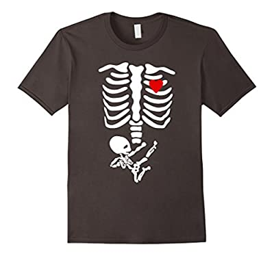 Halloween Skeleton Ninja Baby Maternity Funny T-Shirt