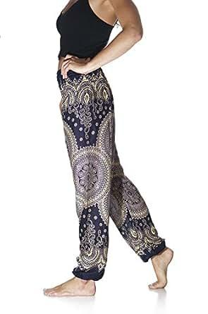 Tori Wear Harem Pants Smocked Elastic Waist Hippie Pants