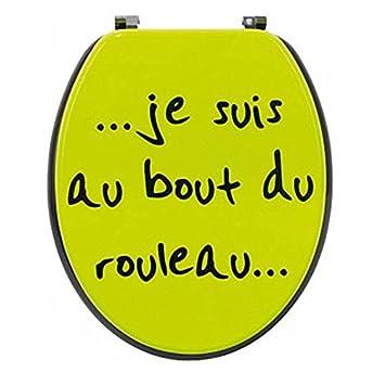 Abattant Wc Humoristique Je Suis Au Bout De Rouleau