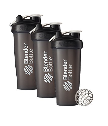 28 Oz. Hook Style Blender Bottle W/ Shaker Bundle-Full Color Black-Pack of 3