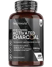 Activated Charcoal capsules - Geactiveerde Houtskool tegen winderigheid na het eten - Om een opgeblazen gevoel te verhelpen - 180 Vegan Capsules
