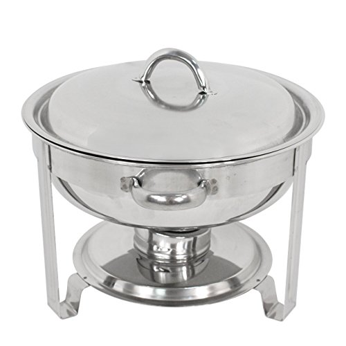 Super Deal Stainless Steel Combo - 2 Round Chafing Dish + 2 Rectangular Chafers by SUPER DEAL (Image #1)