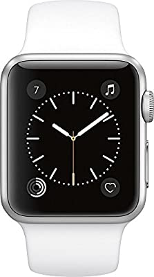 Apple Watch Series 1 38mm Smartwatch (Silver Aluminum Case with White Sport Band)