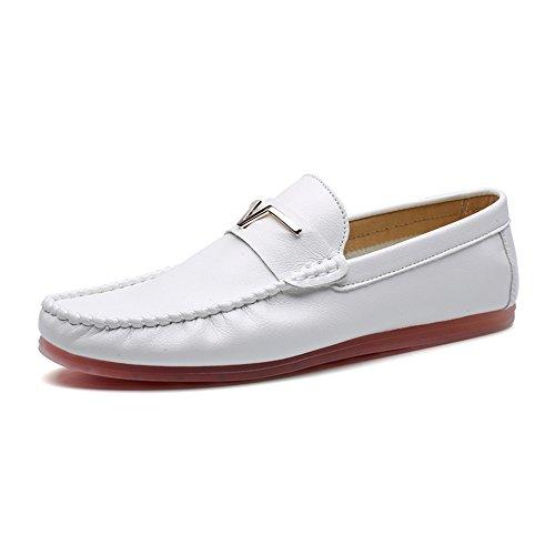 Bianco Scarpe On Shelaidon Barca Uomo Da Slip Flats Mocassini UwBHx48qHa