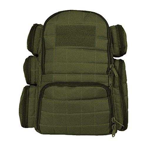 Explorer Tactical Heavy Duty Range Backpack With Adjustable Compartments R4 OD Green