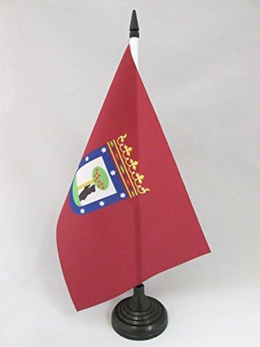 AZ FLAG Bandera de Mesa de la Ciudad DE Madrid 21x14cm - BANDERINA ...
