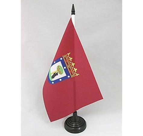 AZ FLAG Bandera de Mesa de la Ciudad DE Madrid 21x14cm - BANDERINA de DESPACHO MADRILEÑA 14 x 21 cm: Amazon.es: Hogar