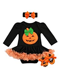 OBEEII Newborn Baby Toddler Girl 1st Halloween Costume Cosplay Fancy Dress Up Outfits