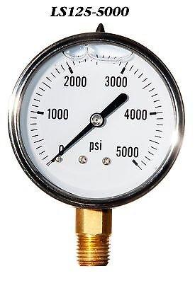 5000 Psi Pressure Gauge (Hydraulic Liquid Filled Pressure Gauge 0-5000 PSI)