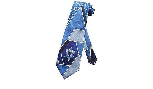 Corbata Hombre Corbata Judía De La Estrella De David Corbata Azul ...