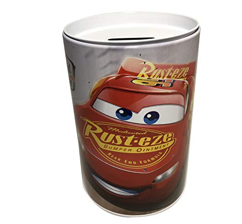 Bank Box Tin - The Tin Box Company Kids Coin (Money) Bank - Disney Cars - Rust eze - Bumper Ointment