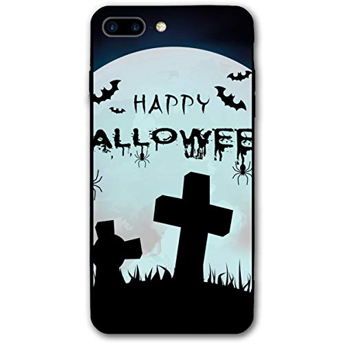 iPhone 7 Plus Case iPhone 8 Plus Case 5.5 Inch Happy Halloween Grave Full Moon Soft Flexible TPU Back Cover Silicone TPU Ultra Thin Phone Case -