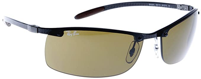 006eb42cda Ray-Ban 8305 082 73 Dark Carbon 8305 Carbon Lite Rimless Sunglasses Lens  Category 3  Amazon.co.uk  Clothing