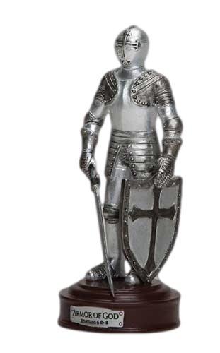 Full Armor of God Ephesians 6 Resin Stone 5 inch Knight Figurine
