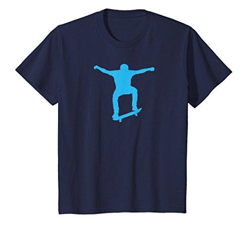 Price comparison product image Kids Skateboard Jump Drawing-Cool Skate Park-Ariel Tricks Shirts 10 Navy