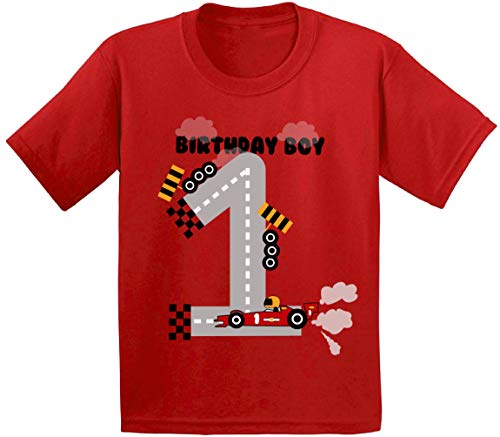 Awkward Styles Birthday Boy Infant Shirt Race Car Birthday Party for 1 Year Old Red 12M -